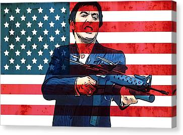 American Gangster Tony Montana Canvas Print by Dan Sproul