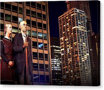 American Gothic In Chicago Canvas Print