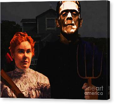 American Gothic Resurrection - Version 1 Canvas Print by Wingsdomain Art and Photography
