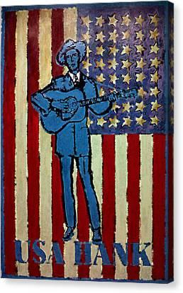 American Hero - Hank Williams Canvas Print by Richard Reeve