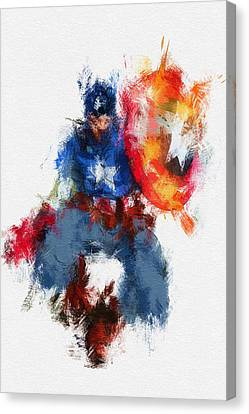 Avengers Canvas Print - American Hero by Miranda Sether