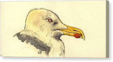 American Herring Gull Canvas Print by Juan  Bosco