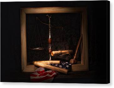 Scales Canvas Print - American Ideals Still Life by Tom Mc Nemar