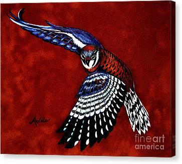 American Kestrel Canvas Print by Adele Moscaritolo