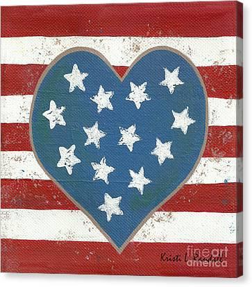 American Love Canvas Print by Kristi L Randall