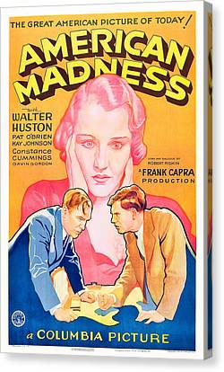 American Madness, Background, Kay Canvas Print by Everett