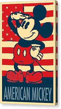 American Mickey In Hope Canvas Print by Rob Hans