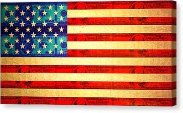 American Money Flag Canvas Print