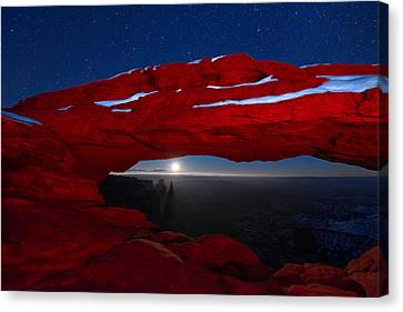American Moonrise Canvas Print