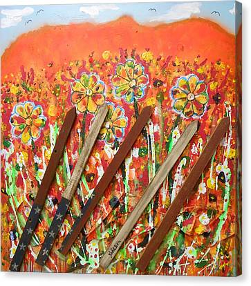 American Mornin' Flower Garden Canvas Print
