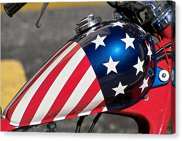 Canvas Print featuring the photograph American Motorcycle by Gary Dean Mercer Clark
