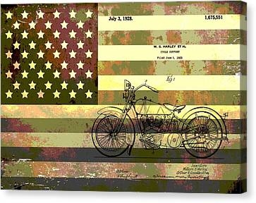 American Motorcycle Patent Canvas Print