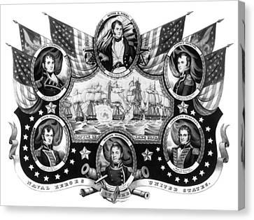 American Naval Heroes Canvas Print by Granger