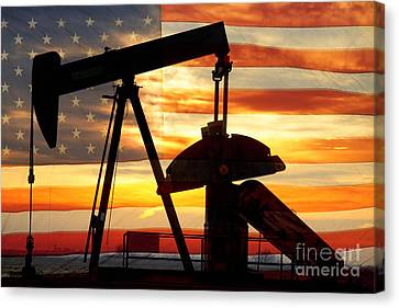Red Skies Canvas Print - American Oil  by James BO  Insogna