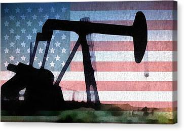 American Oil Rig Canvas Print