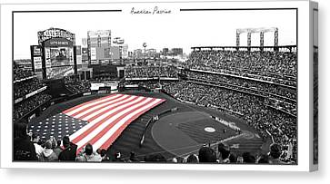 American Pastime Canvas Print by Ed Burczyk