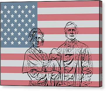 American Patriots Canvas Print by Dan Sproul
