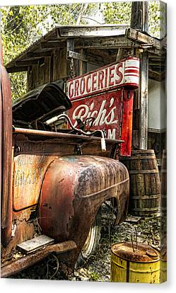 Bicycle Canvas Print - American Pickers by Peter Chilelli