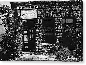 Version 1 Canvas Print - American Pool Hall Facade Version 1 Ghost Town Jerome Arizona 1968 by David Lee Guss