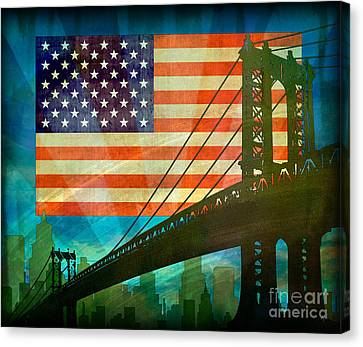 American Pride Canvas Print by Bedros Awak