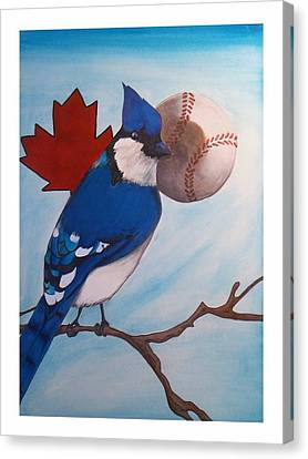 Bluejay Canvas Print - American Pride by Jacob Hostetler