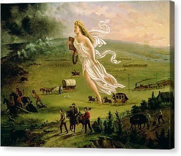 American Progress Canvas Print by John Gast
