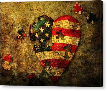 American Puzzle Canvas Print