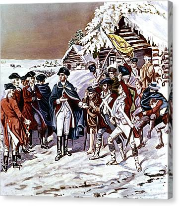Infantryman Canvas Print - American Revolution 1777 Congress by Vintage Images