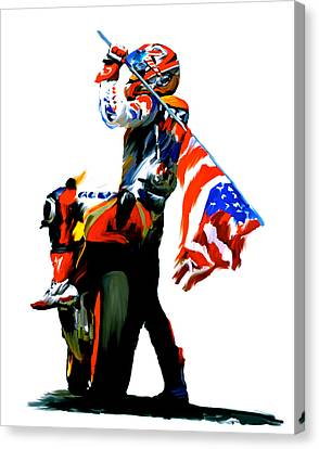American Revolution Four Nicky Hayden Canvas Print by Iconic Images Art Gallery David Pucciarelli