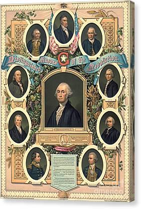 American Revolution Freemasons 1876 Canvas Print by Padre Art