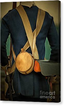 Canteen Canvas Print - American Revolutionary Soldier by Edward Fielding