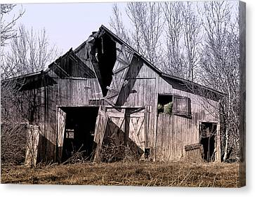 Wood Shed Canvas Print - American Rural by Tom Mc Nemar