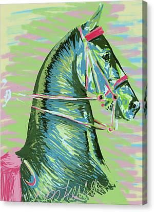 American Saddlebred Horse Digital Painting Canvas Print