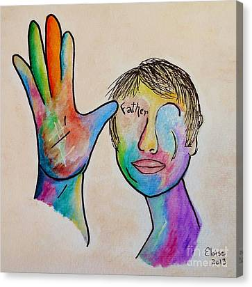 American Sign Language  Father Canvas Print by Eloise Schneider