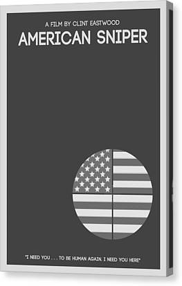American Sniper Minimalist Movie Poster Canvas Print by Celestial Images
