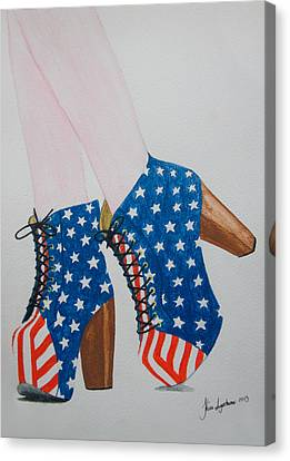 American Style Canvas Print by Kim Lagerhem