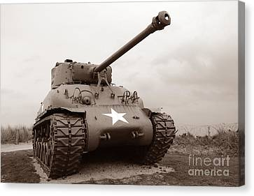 American Tank Canvas Print by Olivier Le Queinec