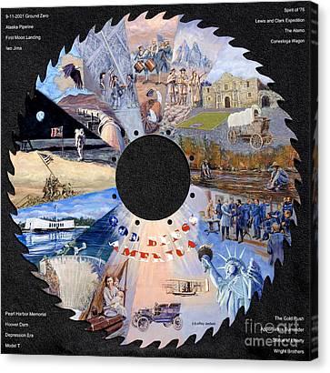 American Timeline Canvas Print