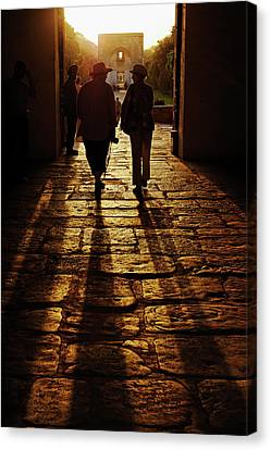 American Tourists Silhouetted Canvas Print by Adam Jones