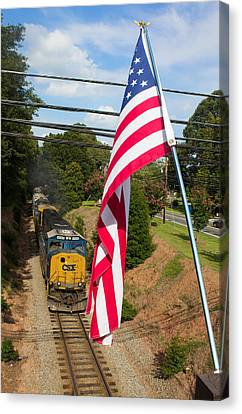 American Train 2 Canvas Print