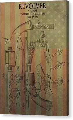 American Vintage Revolver Canvas Print