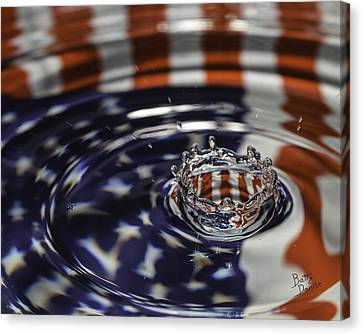Canvas Print featuring the photograph American Water Crown by Betty Denise