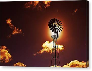 American Windmill Canvas Print by Marco Oliveira