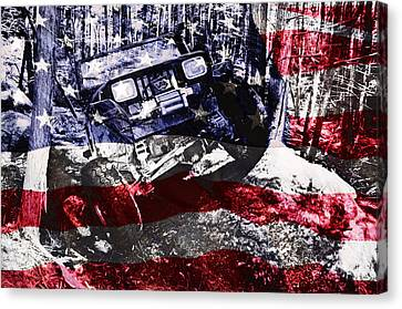 American Wrangler Canvas Print by Luke Moore