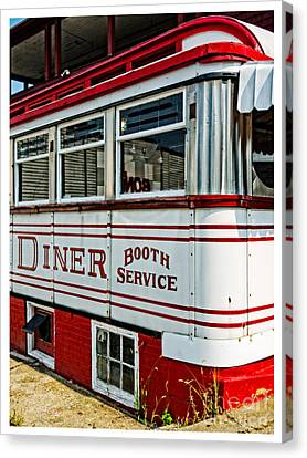 Americana Classic Dinner Booth Service Canvas Print by Edward Fielding