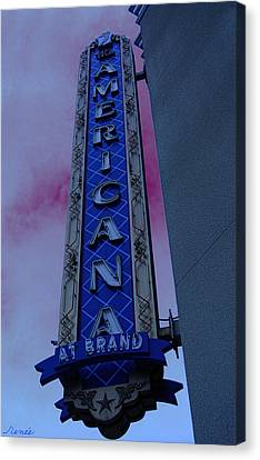 Canvas Print featuring the photograph Americana Vintage Landmark Sign_3 by Renee Anderson