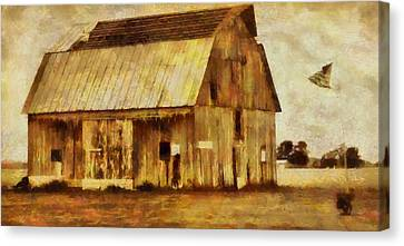 Americana Old Barn Canvas Print