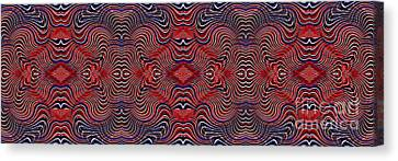 Americana Swirl Banner 2 Canvas Print by Sarah Loft