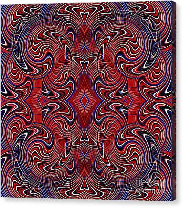 Americana Swirl Design 1 Canvas Print
