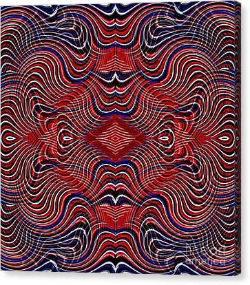 Memorial Day Canvas Print - Americana Swirl Design 7 by Sarah Loft
